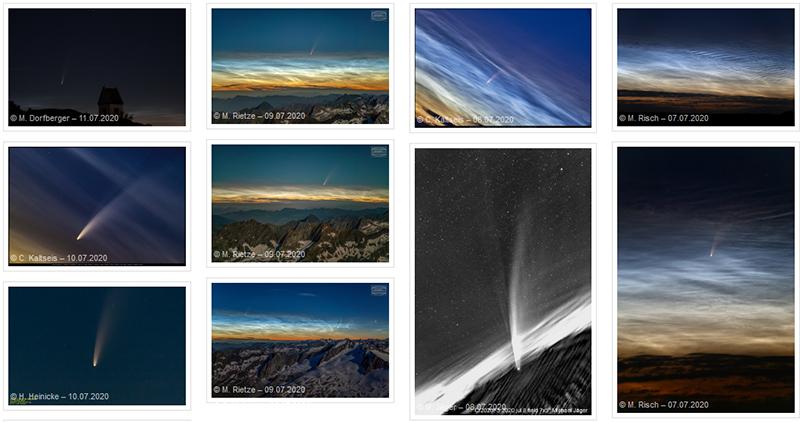 Bilder Komet Neowise