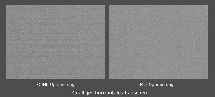 Zufälliges horizontales Rauschen QHY600