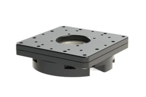 """Pan Adjuster for adjusting the optical axis of parallel mounted telescopes - application 2 with Pan 3"""" / EQ Dual clamp 230mm #2451556, Heavy-duty 8"""" double mounting plate #2451559 and 8"""" PlaneWave clamp for 10micron / Baader 8"""" dovetail bar or PlaneWave OTAs >17"""