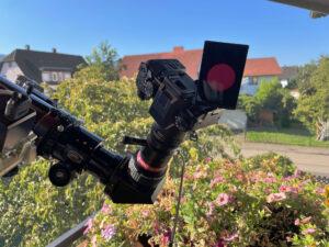 Mit dem 0,4x Telekompressor ist das Bild wieder klein genug für eine MFT-Kamera.