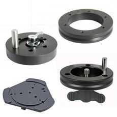 Tripod adapter flanges