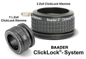 Das Baader ClickLock System - 1.25 und 2 Zoll
