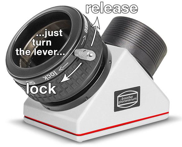Anwendung der 2 Zoll ClickLock Okularklemme