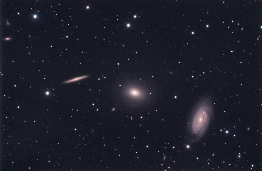 Draco Trio of Galaxies