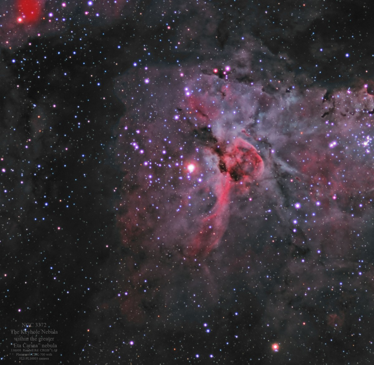 Eta Carina Nebula (NGC 3372) - by Collin Eldridge