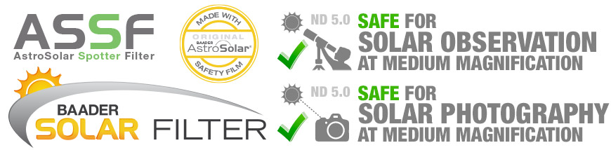 ASSF - AstroSolar Binocular Filter