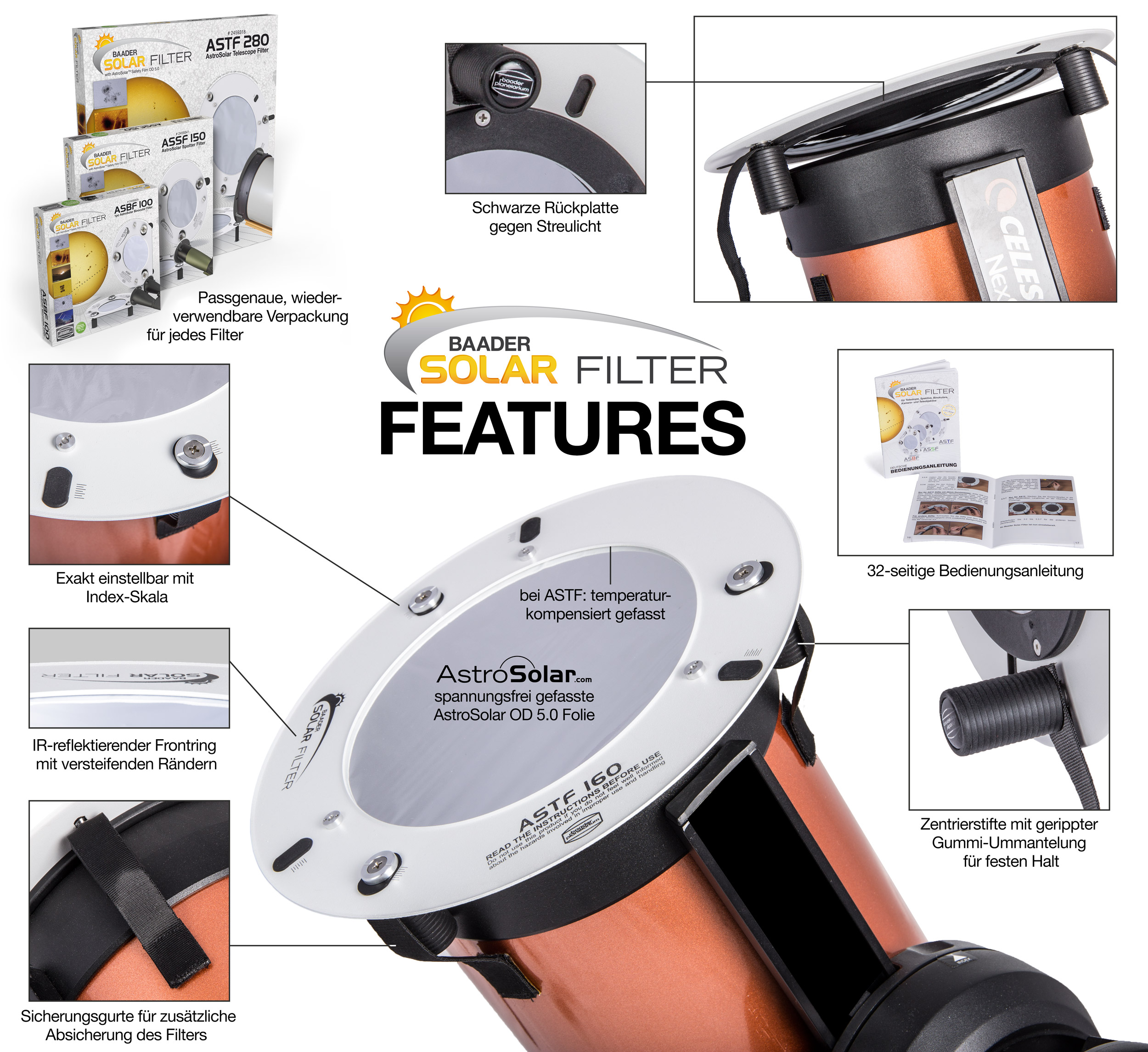Baader Solar Filter - Features
