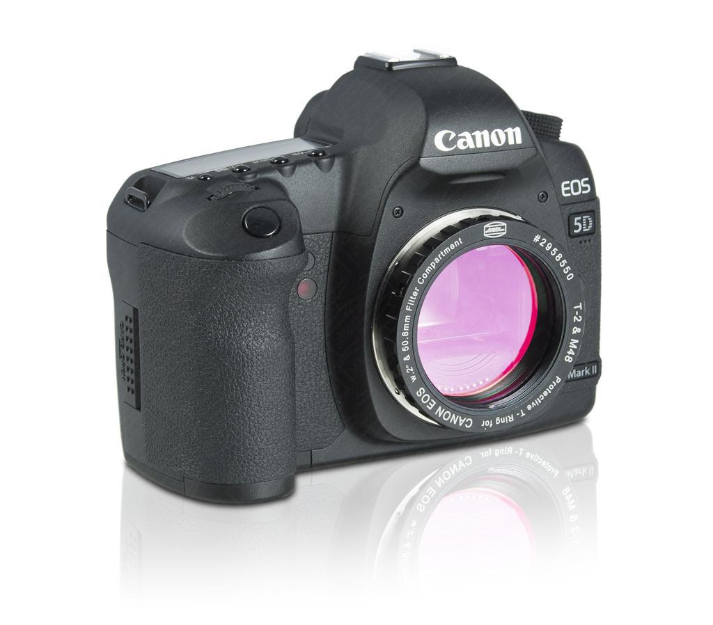 Kamera mit montiertem Protective DSLR T-Ring