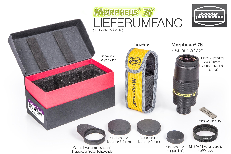Morpheus Standard Lieferumfang
