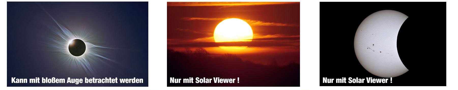 AstroSolar Silver Solar Viewer Anwendungsbeispiele