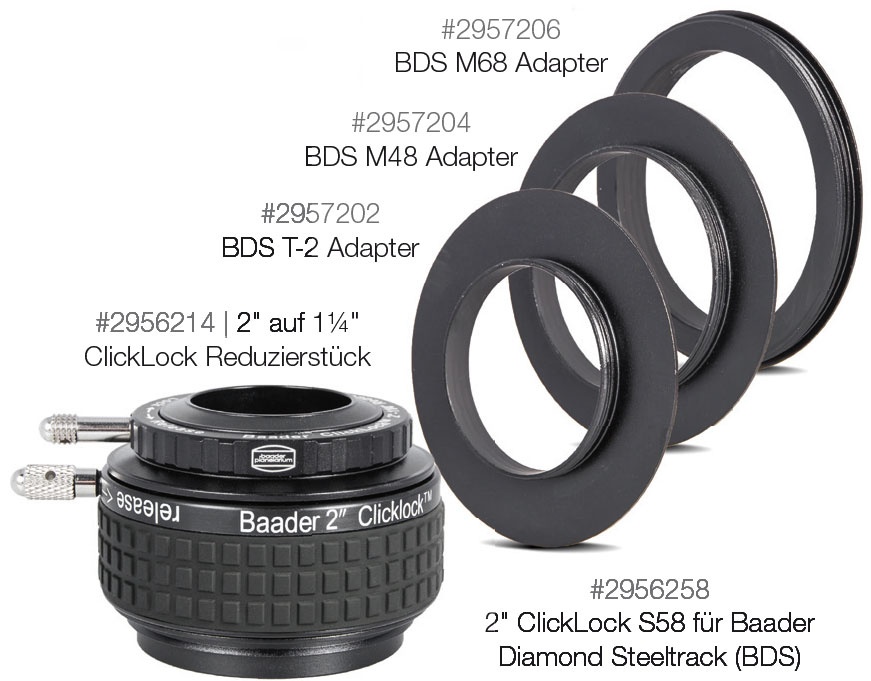 Baader Diamond Steeltrack Adapters